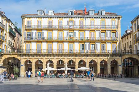 Plaza de la Constitution is a former bullfight ring Standard-Bild - 116663276