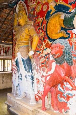 More than 200 years old murals and sculptures inside the temple of the Buddhist monastery named Sunandarama Maha Vihara in the village Ambalangoda, southern Province of Sri Lanka Editorial