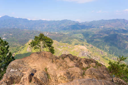 View from the Ella Rock, a famous mountain in the hill country of Sri Lanka