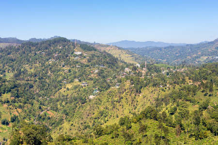 View from the Little Adams Peak to Ella, a small town in the highlands and Uva province of Sri Lanka. Approx 1000m high, the town is rich on bio-diversity, surrounded by forest and tea plantations