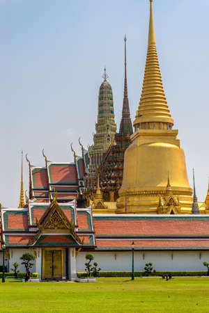 The Wat Phra Kaew, commonly known in English as the Temple of the Emerald Buddha