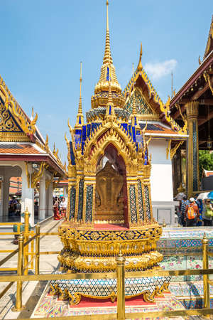 Bai Sema is a boundary stone in the Wat Phra Kaew, commonly known in English as the Temple of the Emerald Buddha. The most sacred temple in Bangkok Editorial