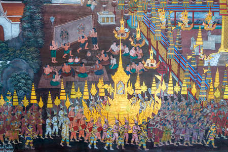 Murrals, paintings, tales and story from Buddha, kings and Buddhism in the Wat Phra Kaew, commonly known in English as the Temple of the Emerald Buddha
