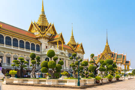 The culture, is a complex of buildings at the heart of Bangkok, Thailand. The palace has been the official residence of the Kings of Siam. This is the Phra Thinang Chakri Maha Prasat building Editorial
