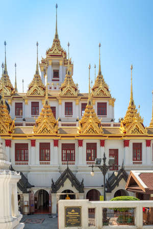 The Buddhist temple Wat Ratchanatdaram in the central district of Bangkok