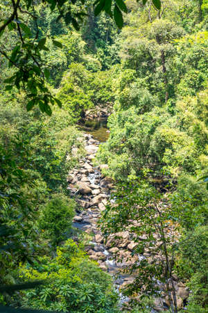 Rocks and stones in the headwater of the river Sok in the national park Khao Sok in the south of Thailand