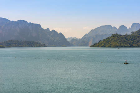 The Cheow Lan Lake in the national park Khao Sok in Thailand