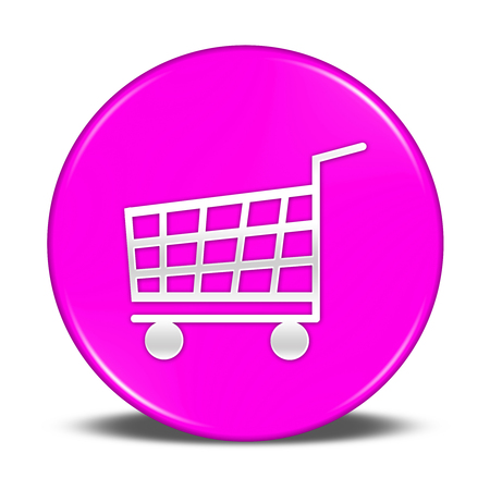 shopping cart: shopping cart button isolated