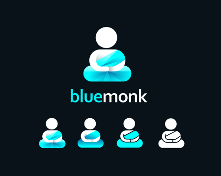 blue Monk Icon and logo design