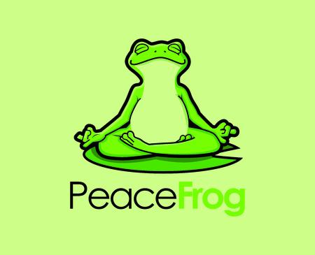 Zen Frog Character Mascot