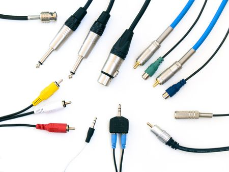 electrical wires: Audio&Video Stock Photo