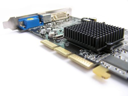 Accelerated Graphics Port Video Card with passive cooling. Stock Photo - 5342910