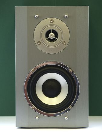 Active two-way sound audio monitor. The front view. photo
