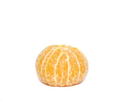 Clean tangerine on a white background. photo