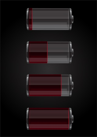 Battery icons set Illustration