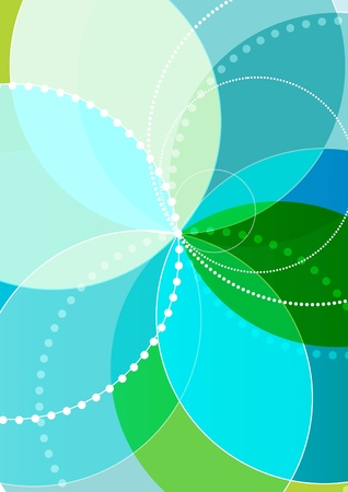 sharp curve: Vector spirograph illustration Illustration