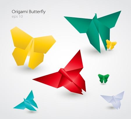 Origami Butterflies Illustration