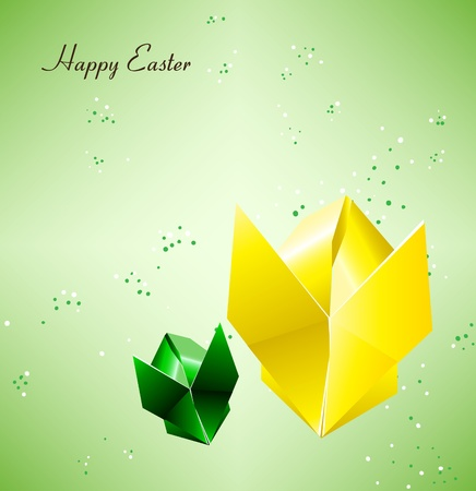 Easter Origami Bunny Vector