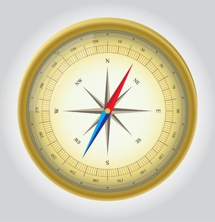 Gold Vector Compass