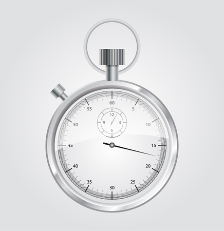 interval: Vector stopwatch mechanic chromed  Illustration