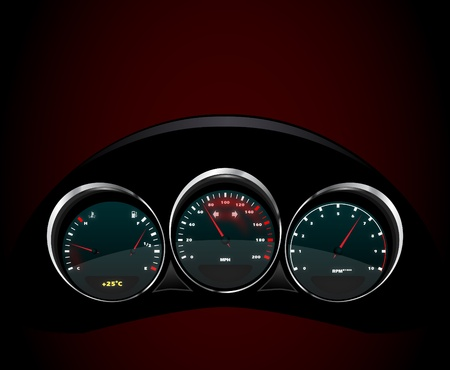 Vector realistic car dashboard, eps 10