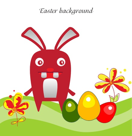 Easter bunny backgraund  Vector