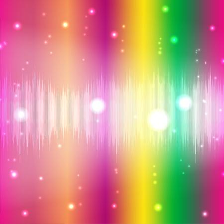Disco lighting effect Illustration