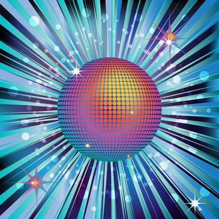 Shiny rainbow disco ball