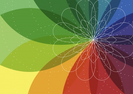 spirograph flower illustration background. Vector