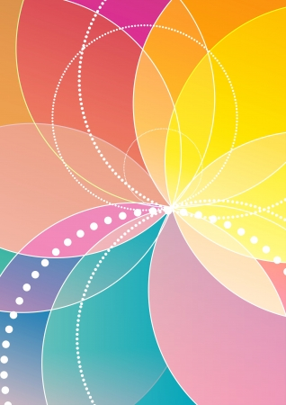 Spirograph rainbow background Vector