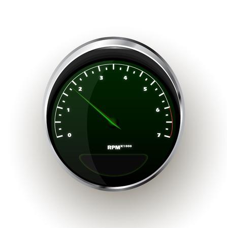 tachometer: realistic Tachometer Illustration