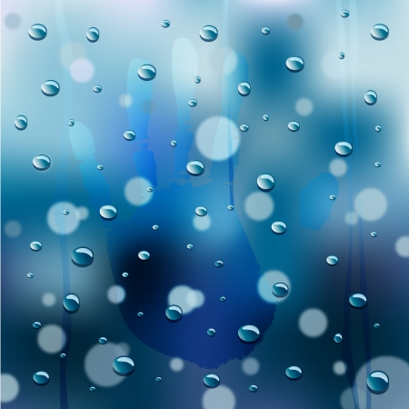 Rainy Window Background