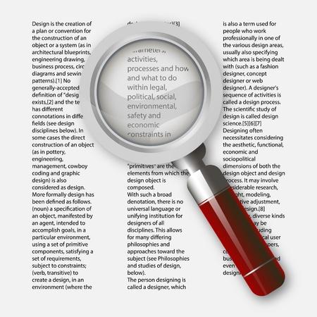 Magnifying glass illustration