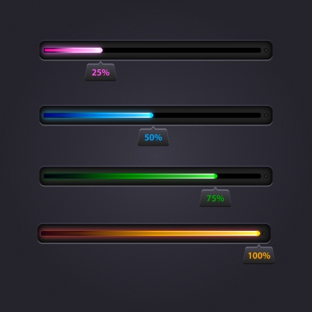 progress bar: Collection of modern preloaders and progress loading bars