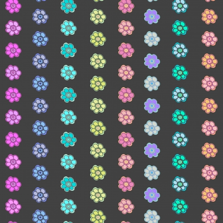 paeony: flower pattern  Seamless cute spring or summer floral pattern  Background with flowers