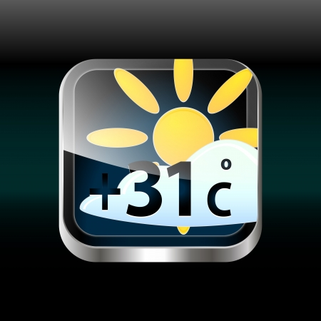 weather app icon Stock Vector - 14973056