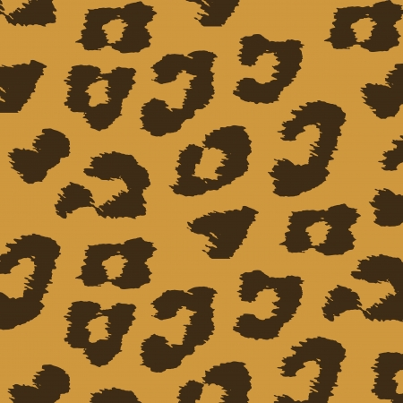 Animal skin textures of leopard illustration wild pattern Vector