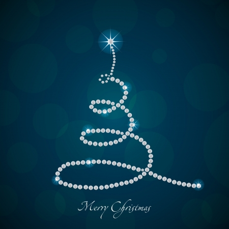 Christmas tree made from diamonds, 2013 Vector