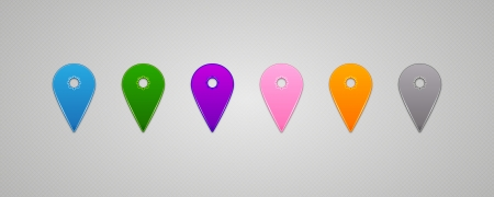 pushpins: Set of Vector colorful Map Pins Pointer Illustration