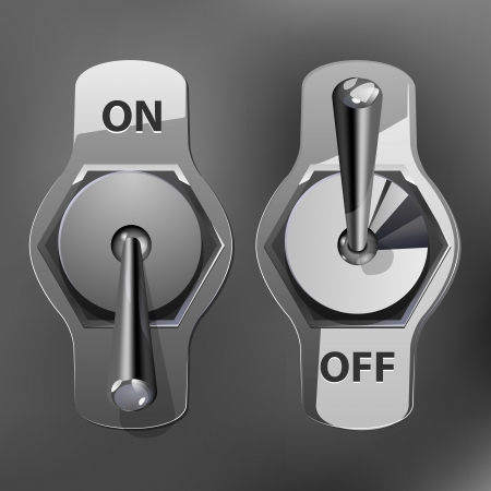 Realistic Toggle Switch grey color Vector