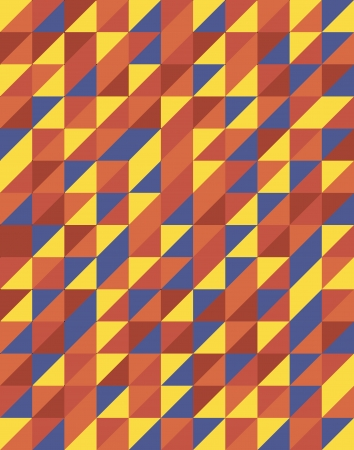 Retro Triangular Pattern Design Vector