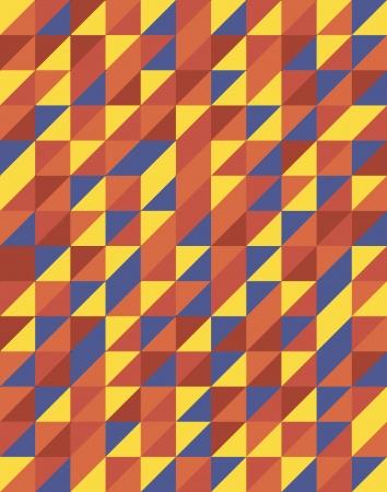 triangular shape: Retro Triangular Pattern Design