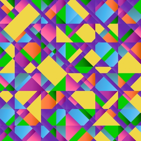 Colorful Abstract Retro Triangular Pattern Poster, Retro Triangular Pattern Design, vector of abstract background, eps 10 Illustration