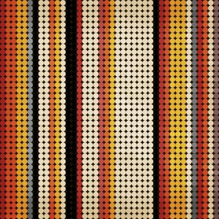 Seamless vintage pattern  Multicolored dot background, Eps 10 Illustration