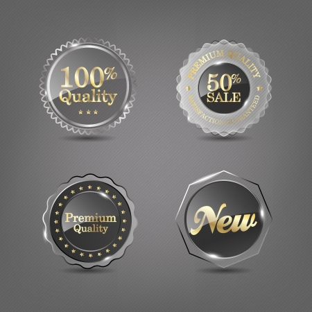 Set of glass labels Stock Vector - 16099794