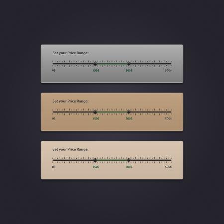 Price Range Filter, eps 10