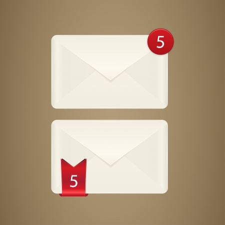 Mail box icon  E mail icon  Vector illustration Eps 10 Vector envelope on white background