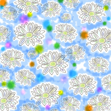 Light floral seamless pattern with chamomiles  Cute natural background for wallpapers, crafts, covers, textile, gifts,