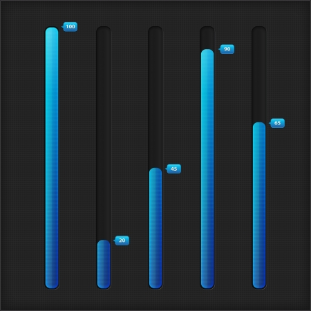 Vertical loading bar. Collection of modern progress loading bars
