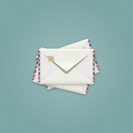 Detailed Envelope Illustration,  vintage air mail envelope icon  Stock Vector - 22013049